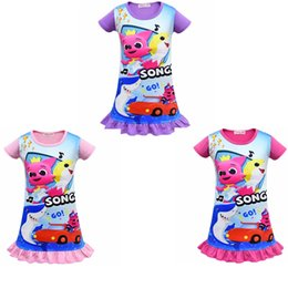 d7c4ef2c33ad Organic cOttOn skirts online shopping - Baby Dresses Girl short Sleeve  Sleeping Dress Cartoon O neck