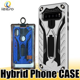 Wholesale Hybrid Armor Kickstand Back Cover Case for Huawei P30 MOTO G7 POWER LG V30 OPPO F11 VIVO V15 Xiaomi with Retail Packaging izeso