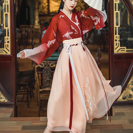 $enCountryForm.capitalKeyWord Australia - Chinese Ancient Tang Dynasty Clothing for Stage Women Chinese Folk Dance Costume Brocade Traditional Hanfu Dress Outfit DWY1923