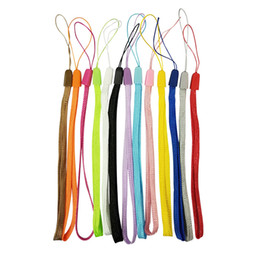 Mobile Power Cell Phone Australia - Fashion Colorful Lanyard Keychain For Cell Phone U Disk Mobile Power Digital Camera Pad Nylon Lanyard