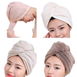 $enCountryForm.capitalKeyWord Australia - 1 PC 23*60cm Womens Girls Lady's Magic Quick Dry Bath Hair Drying Towel Head Wrap Hat Makeup Cosmetics Cap Bathing Tool