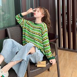 $enCountryForm.capitalKeyWord Australia - Korean O Neck Women Sweater Fashion Heart Printed Striped Jumper Sweaters Female Autumn Long Sleeve Ropa Mujer Invierno 2019