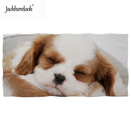 Towels For Dogs NZ - Jackherelook Beach Towels for Adults Sleeping King Charles Spaniel Dog 3D Print Sport Swimming Towel Super Absorbent Bath Toalla