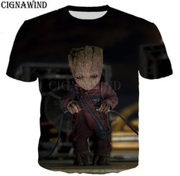 most popular prints Canada - Most popular guardians of the galaxy series t shirt men women 3D printed fashion cool t shirt streetwear casual summer tops A26