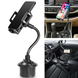 Wholesale Weathertech Cup Holder Universal Cell Phone Mount in Car Cradles Adjustable Gooseneck Holder Compatible for Apple iPhone X with box