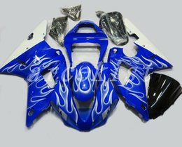 $enCountryForm.capitalKeyWord UK - 3Gifts New ABS motorcycle fairings kit Fit for YAMAHA YZF R1 2000 2001 fairing YZFR1 00 01 YZF1000 YZF-R1 bodywork custom blue white flame