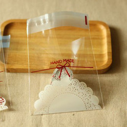 Hand bag cake online shopping - 1000pcs Transparent Hand Made Cookies Biscuits Bags Self adhesive Wedding Cellophane Bag Cake Candy Gift Bags