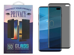 privacy screen protector note Australia - Privacy Tempered Glass 3D Anti Spy Case Friendly Screen Protector for Samsung Galaxy S10 S9 S8 Plus Note 8 NOTE 9 NOTE 10 PRO with retail