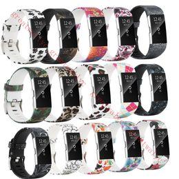 $enCountryForm.capitalKeyWord NZ - Colorful Watchband Fashion Sports Silicone watchband Bracelet Strap Band Wristband For Fitbit Charge 2 Pattern Wrist Strap VS Versa Band