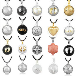 Pendant Pregnant Australia - 1pc Pendant Necklace Pregnancy Chime Ball Harmony Bola Pendant Necklace Wishing Ball Pregnant Women Gift Baby Angel Caller Y19061703