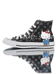Kitty fabric online shopping - Kitty x Chuck HI s chuck Women Casual Canvas Shoes Skate Womens Designer Sneakers Trainers Size