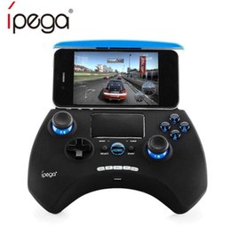 Gamepad controller ios online shopping - iPEGA PG Wireless Gamepad Bluetooth Game Controller With Touchpad Game Console For Android IOS Phone TV Box Joystick With Holder