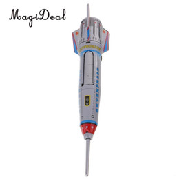 rocket toys for children Australia - MagiDeal 1Pc Retro Rocket Spaceship Model Clockwork Wind Up Tin Vehicle Toy for Children Kids Boy Adult Collectible Classic Toy SH190913