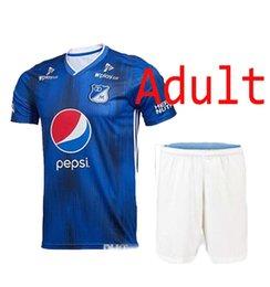 2019 2020 Millonarios Adult kit Soccer Jerseys Futbol Club Colombia Camiseta  de fútbol 19 20 Colombia Millonarios HOME Camisas envío rápido d8283758e