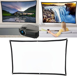 $enCountryForm.capitalKeyWord Australia - 60 70 84 100 120in Folding Polyester Projection Curtain Screen for Home Theater Good quality