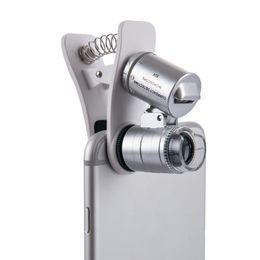 $enCountryForm.capitalKeyWord Australia - Universal Mobile Phone Microscope Macro Lens 60X Optical Zoom Magnifier Micro Camera Clip LED Lenses For iPhone SE 5S 6S Plus
