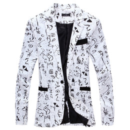 Wholesale mens floral blazers for sale - Group buy 2019 Linen designer Men Clothing Luxury Designer Mens Blazer print Jacket Stylish Fancy Brand floral Males Suits Blazers