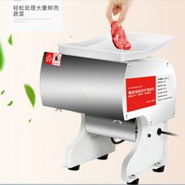 Slice Cutter Machine Australia - 550w Commercial automatic Electric Sliced Meat Cutter Multifonctional Meat Slicer Electric Rapid Cutting Diced Sliced Meat Cutting Machine