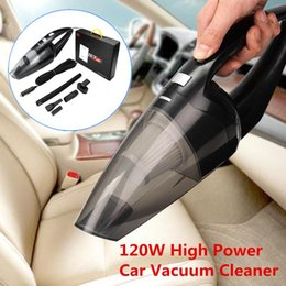 handheld vacuums cleaners NZ - 120W Handheld Portable Auto Car Vacuum Cleaner Super Suction Wet Dry Dual Use Cleaning Tool for Car Home