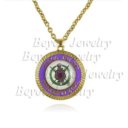 $enCountryForm.capitalKeyWord Australia - Cheap Pendant Necklaces Omeg Psi Phi Fraternity logo necklace Jewelry 1pc Pendant Necklaces