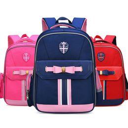 China 2019 Bowknot Belt Stripe Union Jack Girl Boy Children Primary School bag Bagpack Schoolbags Kids Teenagers Student Backpacks cheap kids khaki backpack suppliers