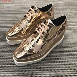 Product Brand Color Australia - Brand new product Cool dazzle Golden color Imported fabrics Original factory combination wear-resistant Footwear bottoms women's leisure sho