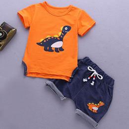 $enCountryForm.capitalKeyWord Australia - Summer Boy Clothes Sets cartoon Short Sleeve Sport Suit Toddler Boy Clothes Children Clothing Outfits Suit Novel animal For Kids Clothes