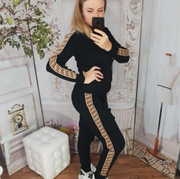 Race Ski Suit Australia - free shopping Womens Casual Fashion Autumn Spring Long Sleeved Two-piece Jogger Set Ladies Fall Tracksuit Sweat Suits Black Plus Size S-2XL
