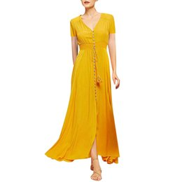 e8ed2f297e4ee Shop Yellow Dresses UK | Yellow Dresses free delivery to UK | Dhgate UK