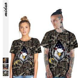 $enCountryForm.capitalKeyWord Australia - 2019 American Independence Day new eagle digital printing personality couple T-shirt summer breathable shirt sports short-sleeved shirt