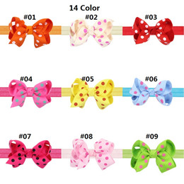 Polka Dot Hair Australia - 24Pcs 7.5CM Polka Dot Baby Bowknot Elastic Hair Bands Headbands Toddler Kids Headwear Beautiful HuiLin DWH119