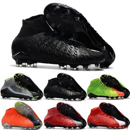 cheap neymar soccer cleats Canada - Mens High Quality Ankle FG Soccer Cleats Hypervenom Phantom III DF Soccer Shoes Neymar IC Football Boots Cleats Men Football Shoes Cheap