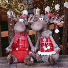 $enCountryForm.capitalKeyWord Australia - Christmas Elk Doll Decoration Cute Clothes Toys Sitting Elk Figurines Christmas Tree Decoration Xmas Home Supplies Ornament