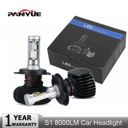 Wholesale PANYUE Auto Led H7 Headlight H13 HB3 HB4 Led H4 Car Bulb K CSP Chip W lm Fan less H8 H11 Fog Lamp All in one