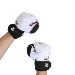 $enCountryForm.capitalKeyWord Australia - Half Finger Boxing Gloves Pu Leather Mma Fighting Kick Boxing Gloves Karate Muay Thai Training Workout Kids Men