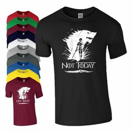 $enCountryForm.capitalKeyWord Australia - Arya Stark Slogan Not Today T Shirt Wolf Game Of Thrones Inspired Mens Tee Top