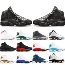 $enCountryForm.capitalKeyWord Australia - New Classic 13 13s Cap And Gown Atmosphere Grey For Men Phantom Basketball Shoes Flint DMP Black Cat Mens Trainers Sneakers US 7-13