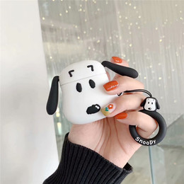 silicone dogs NZ - DHL Cute 3D Dog Soft Silicone Headphone Cases For Airpods Case Charging Wireless Bluetooth Anti-lost Protect Earphone Cover With Hand Rope