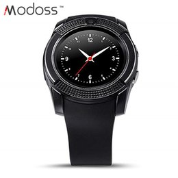 $enCountryForm.capitalKeyWord Australia - 2019 Modoss V8 Bluetooth Smart Watch Round Touch Screen Sim TF Card with Camera Sleep Monitor Calorie Smart Wrist Watch for Android Phone