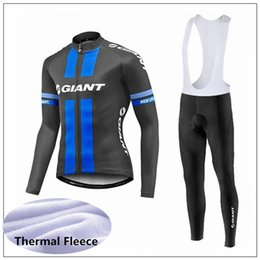 $enCountryForm.capitalKeyWord Australia - GIANT team Cycling Winter Thermal Fleece jersey bib pants sets Polyester Long sleeve clothes Outdoors Sports Bicycle clothing mens Y53160