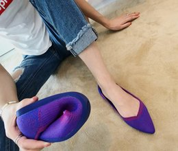 Pregnant Spring Australia - Shallow mouth Ballet Pregnant shoes flat heel Soft bottom Weave shoes casual work shoes size 35~40 Spring summer new style