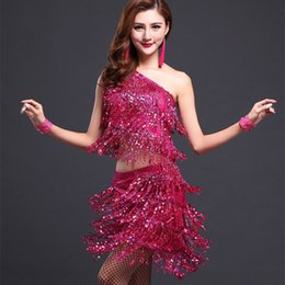 589f0777049c Sequins Women Skirt Samba Dance Costumes Femme Salsa Latin Dress Woman  Vestido Baile Latino Mujer Q190529