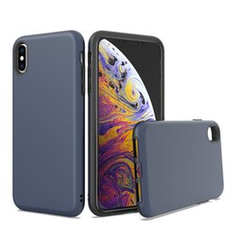 $enCountryForm.capitalKeyWord Australia - For IPhone 8 7 6 Plus X XS MAX XR 2 In 1 Design Protector Hard PC Soft TPU Cover Shockproof Scratch Resistant Glossy Case