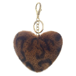 eva key Australia - Cute Ball Pom Pom Keychain for Car Key Ring Handbag Tote Bag Pendant