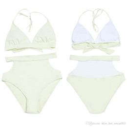 $enCountryForm.capitalKeyWord Australia - Fashion- girls style Bikini nylon fabric Popular Multi-color high waist ladies split swimsuit solid color women swimwear Europe and America