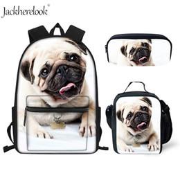 $enCountryForm.capitalKeyWord Australia - Jackherelook 3Pcs Kids School Bags Set Personalized 3D Dog Cute Backpack For Boys Girls Child Schoolbag Student Shoulder Bookbag