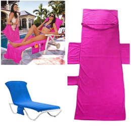 $enCountryForm.capitalKeyWord UK - 215x75cm 5 Colors Beach Chair Cover Lounger Mate Beach Towel Microfiber Blanket Fabric Print Cotton Towel Beach Towels Swimwear