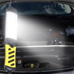 Magnetic flashlights online shopping - Portable LED Emergency Safety Work Light LED Beads Flashlight Magnetic Car Inspection Repair Handheld Work Lamp