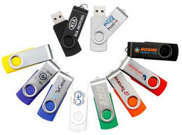 flash drive memory pen drives Australia - Rotary clip U disk drive flash pen drive PC notebook MacBook high speed memory stick memory iron clip 8 Gu disk gift custom free freight