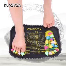 Mat Legging Australia - KLASVSA Reflexology Walk Stone Foot Leg Pain Relieve Relief Walk Massager Mat Health Care Acupressure Mat Pad massageador